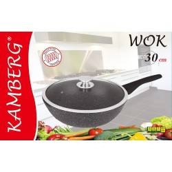 Wok 30 cm en pierre, induction, antiadhésive, Kamberg