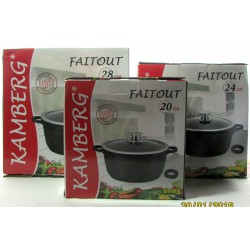 Marmite faitout 20/24/28 cm en pierre, induction,...