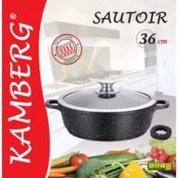 Sautoir 36 cm en pierre, induction, antiadhésive, Kamberg