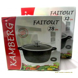 Marmite faitout 28/32 cm en pierre, induction,...