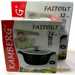 Marmite faitout 24/32 cm en pierre, induction,...