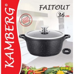 Marmite faitout 36 cm en pierre, induction, antiadhésive,...