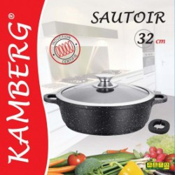 Sautoir 32 cm en pierre, induction, antiadhésive, Kamberg
